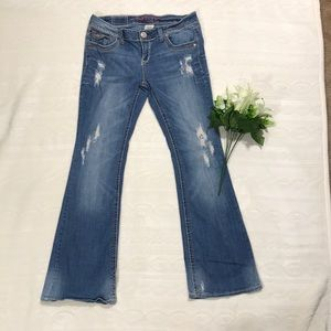 Hydraulic Distressed Bootcut Jeans Sz 9/10